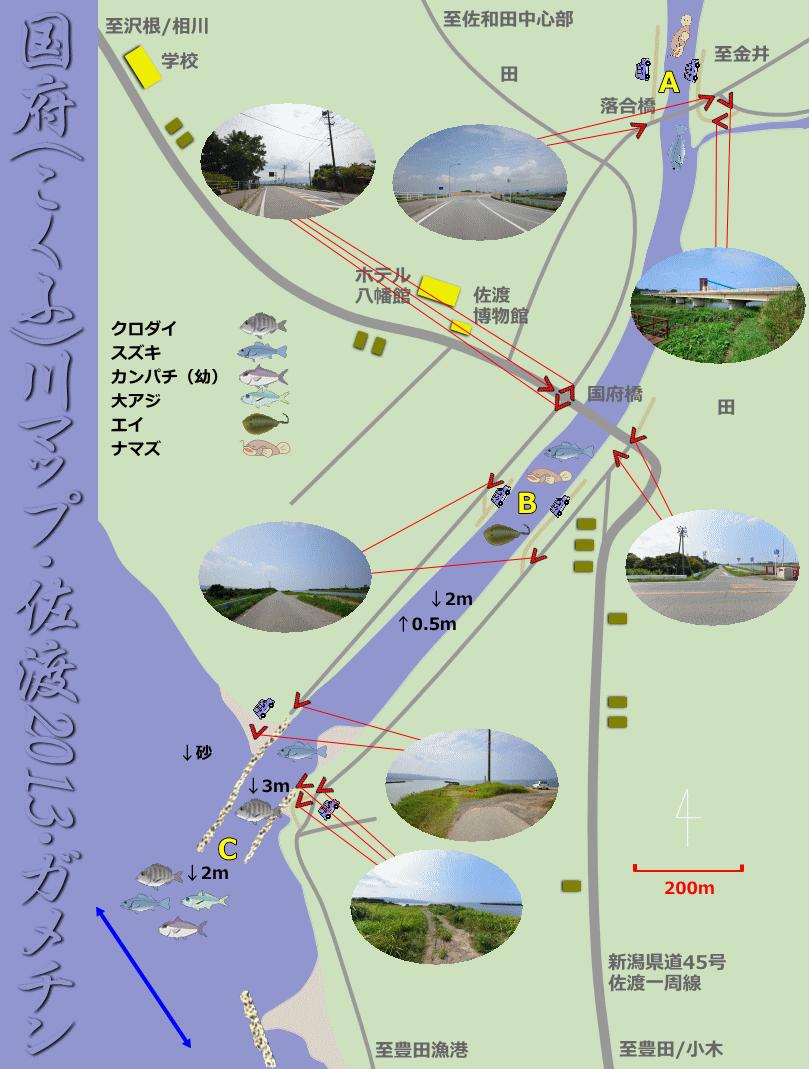 国府川河口ガメチンマップ